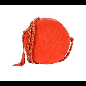 Handbags - 100% Red calfskin Leather Crossbody Bag. NEW!
